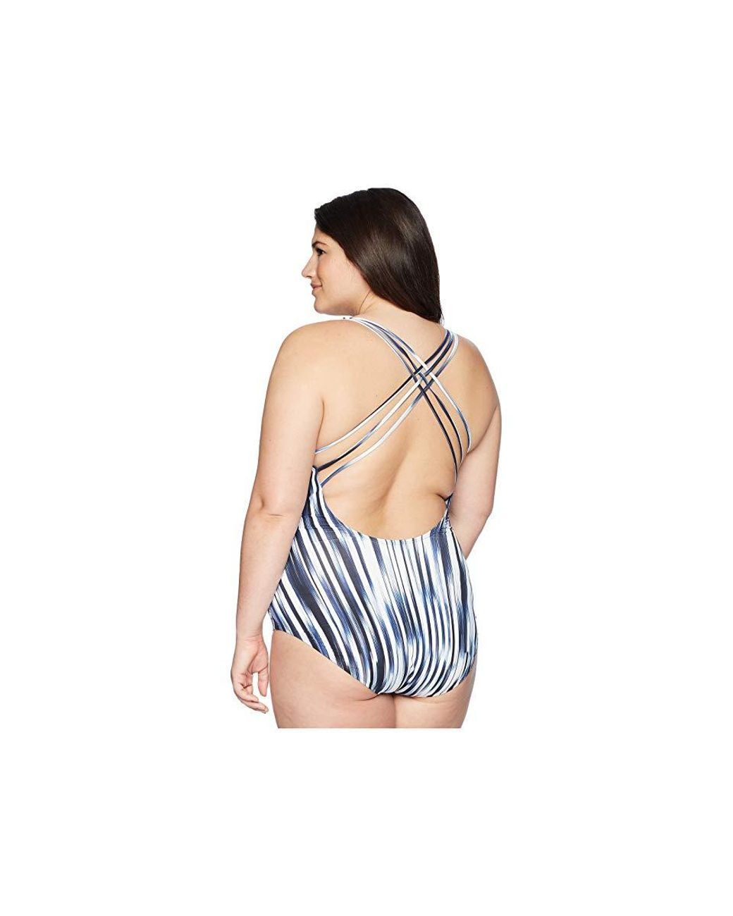 3dad27a56a89d Athena Plus Size Blue Horizon Twist Front Plunge Maillot (navy) Swimsuits  One Piece in Blue - Save 33% - Lyst