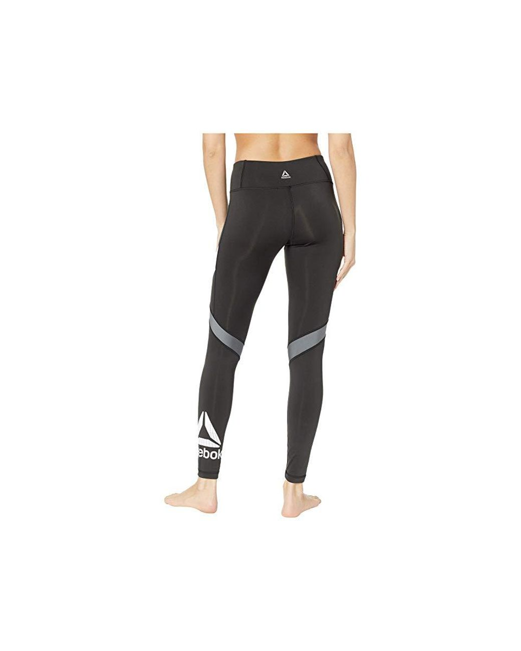 c180f271673 Reebok Work Out Ready Big Delta Tights (black) Casual Pants in Black - Lyst