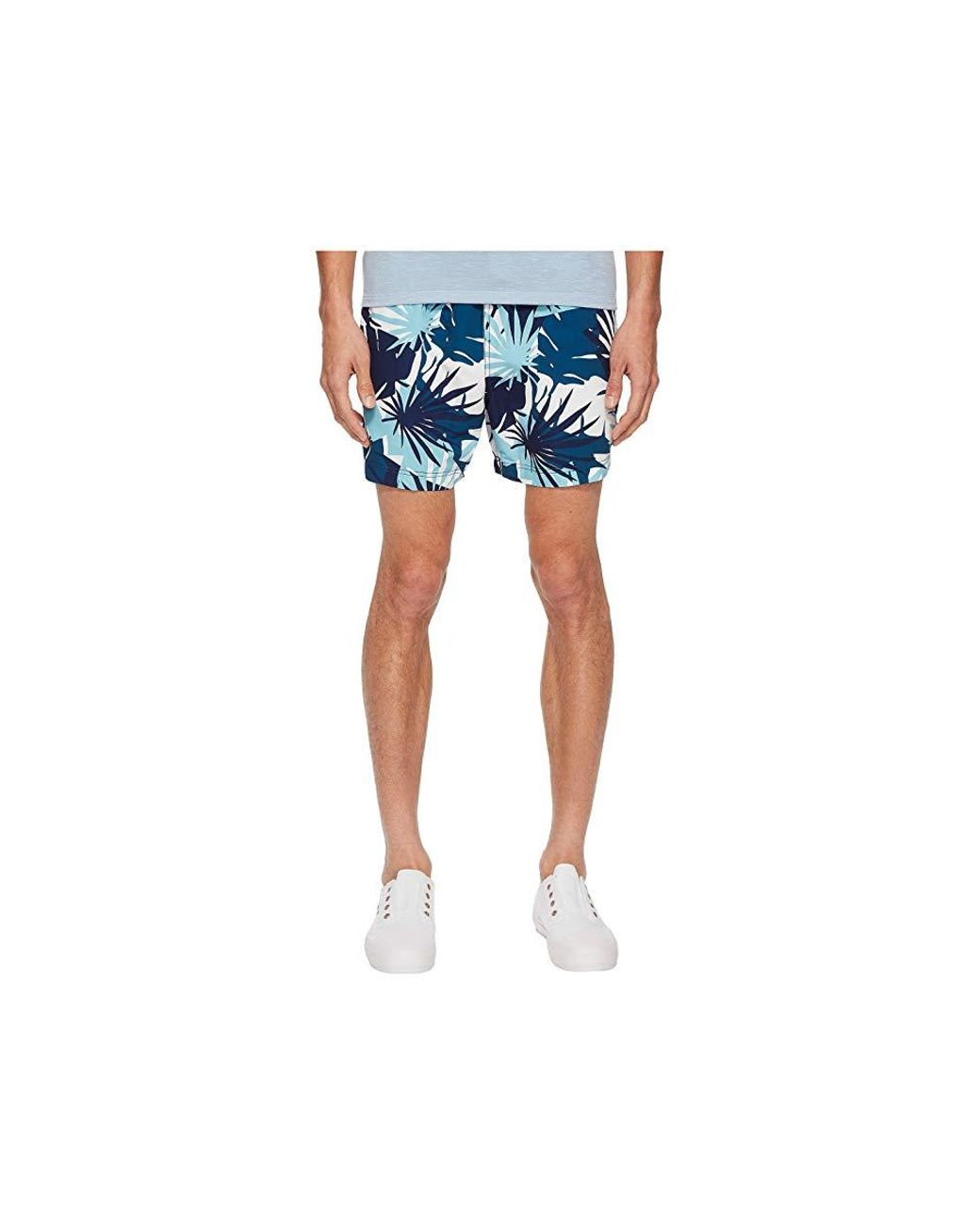 ed0196d16706d Onia Charles 5 Cote D'azure Palms Swim Shorts (aegean Sea Multi) Swimwear  in Blue for Men - Save 25% - Lyst