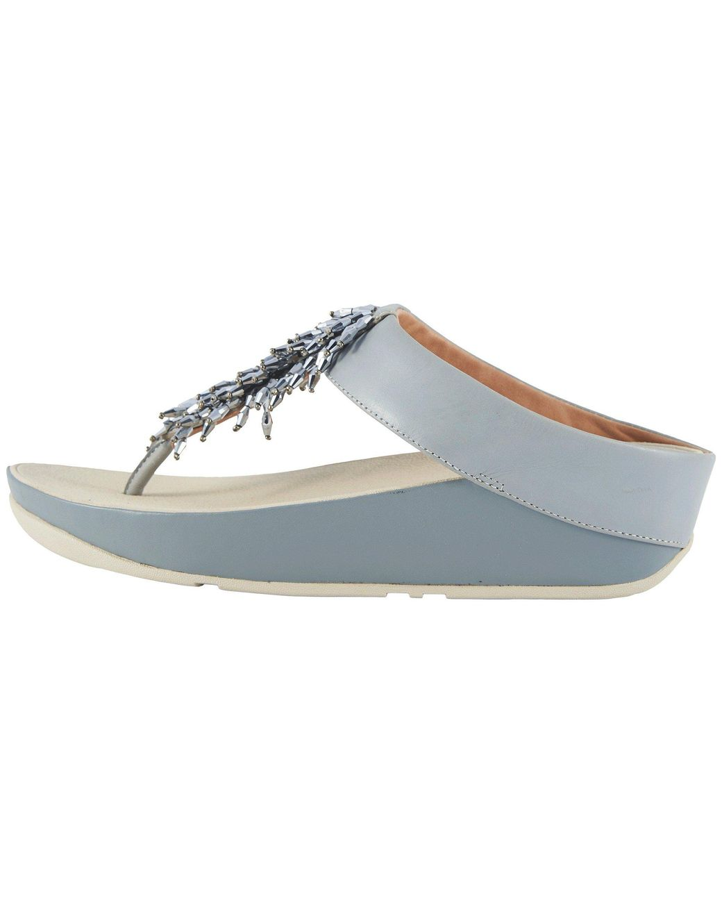 35cb9d0e537f Lyst - Fitflop Rumba Toe Thong Sandals in Blue - Save 28%