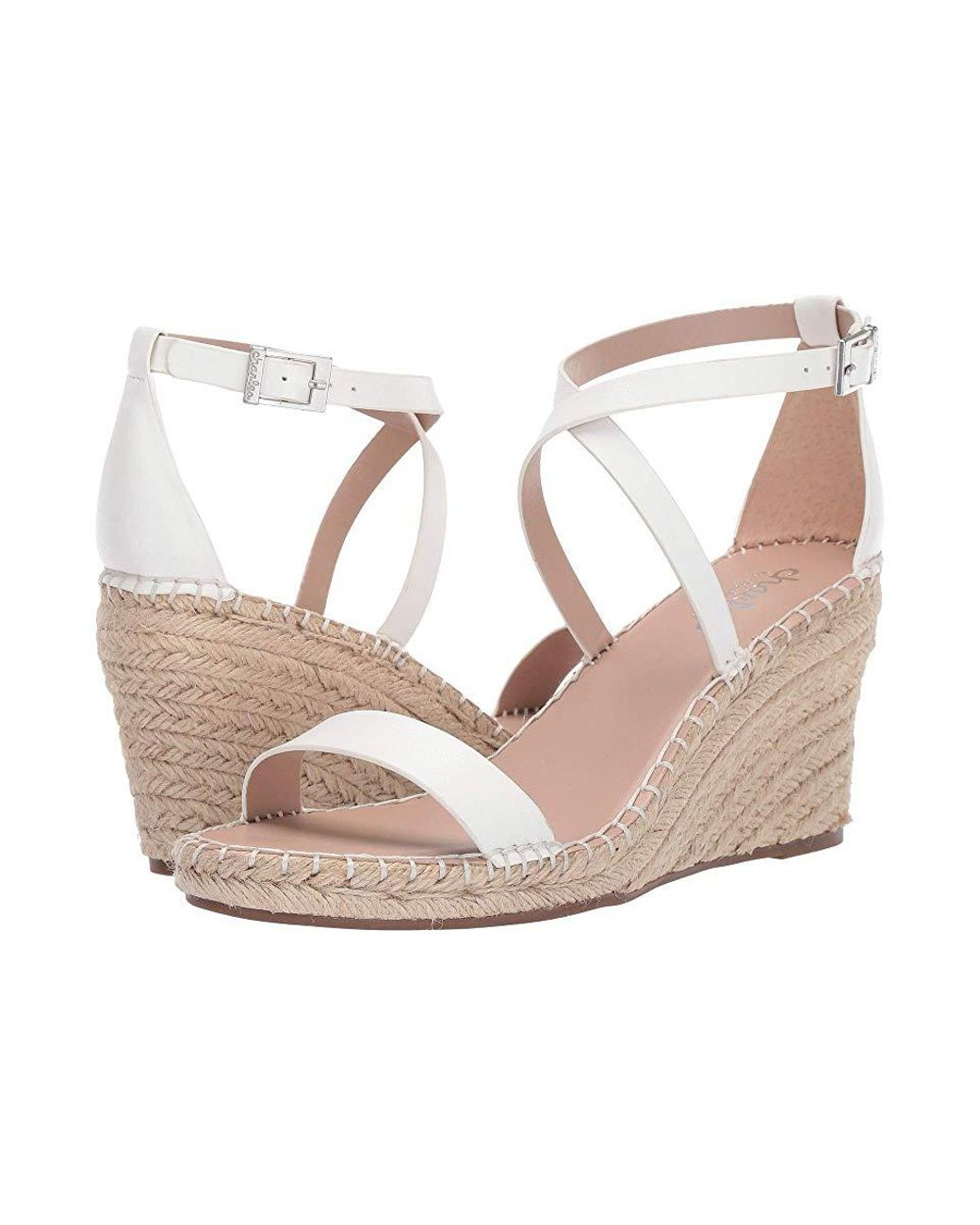 d6e58bc6eb Charles David Nola Wedge Sandal (white) Wedge Shoes in White - Save 62% -  Lyst