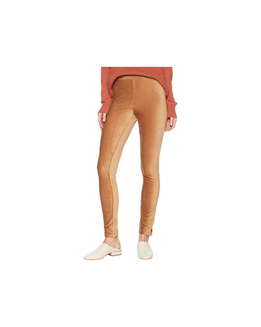 916681da42cab4 Hue High-waist Corduroy Leggings (caramel) Casual Pants in Brown - Lyst