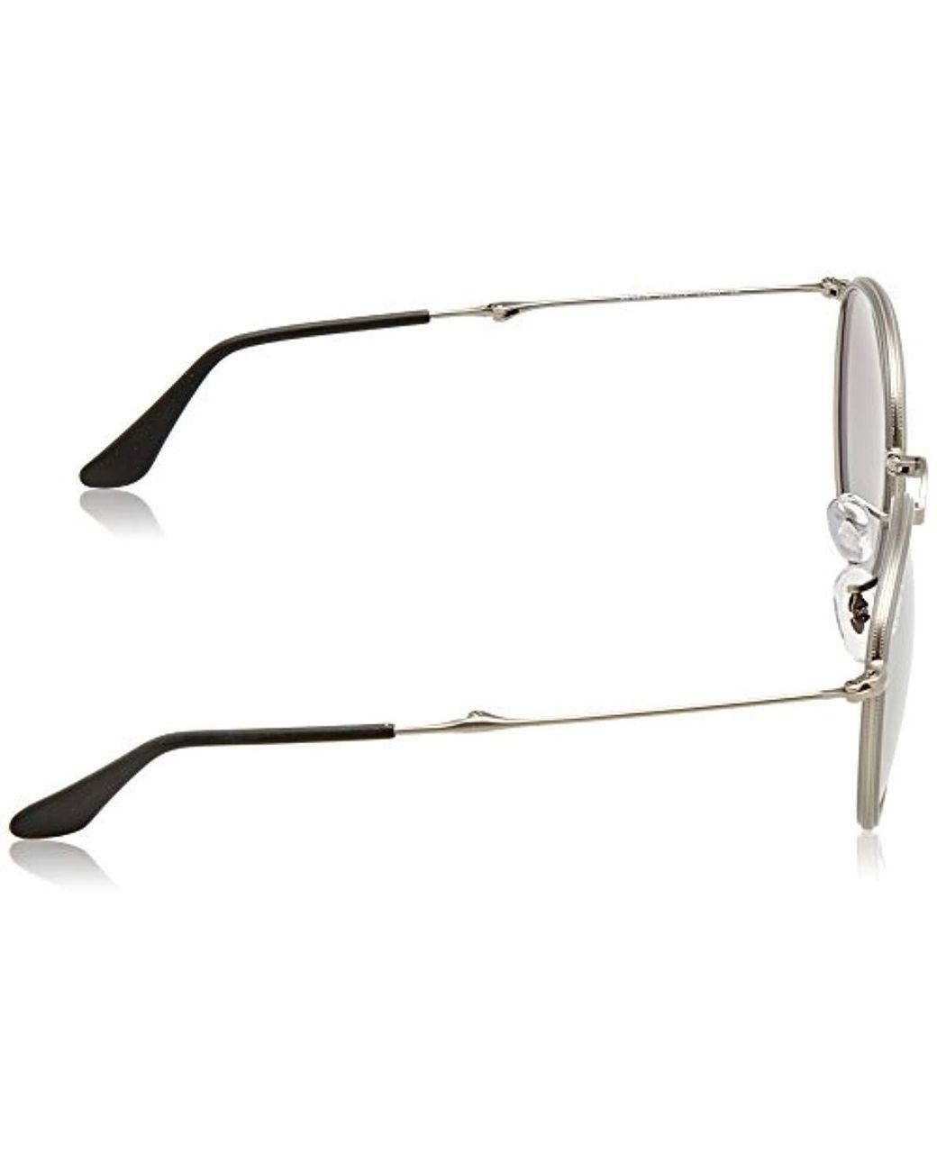 f59b0170b774 Ray-Ban Rb3517 Round Folding Metal Sunglasses, Matte Gunmetal/polarized  Grey Gradient Mirror, 51 Mm in Gray for Men - Lyst