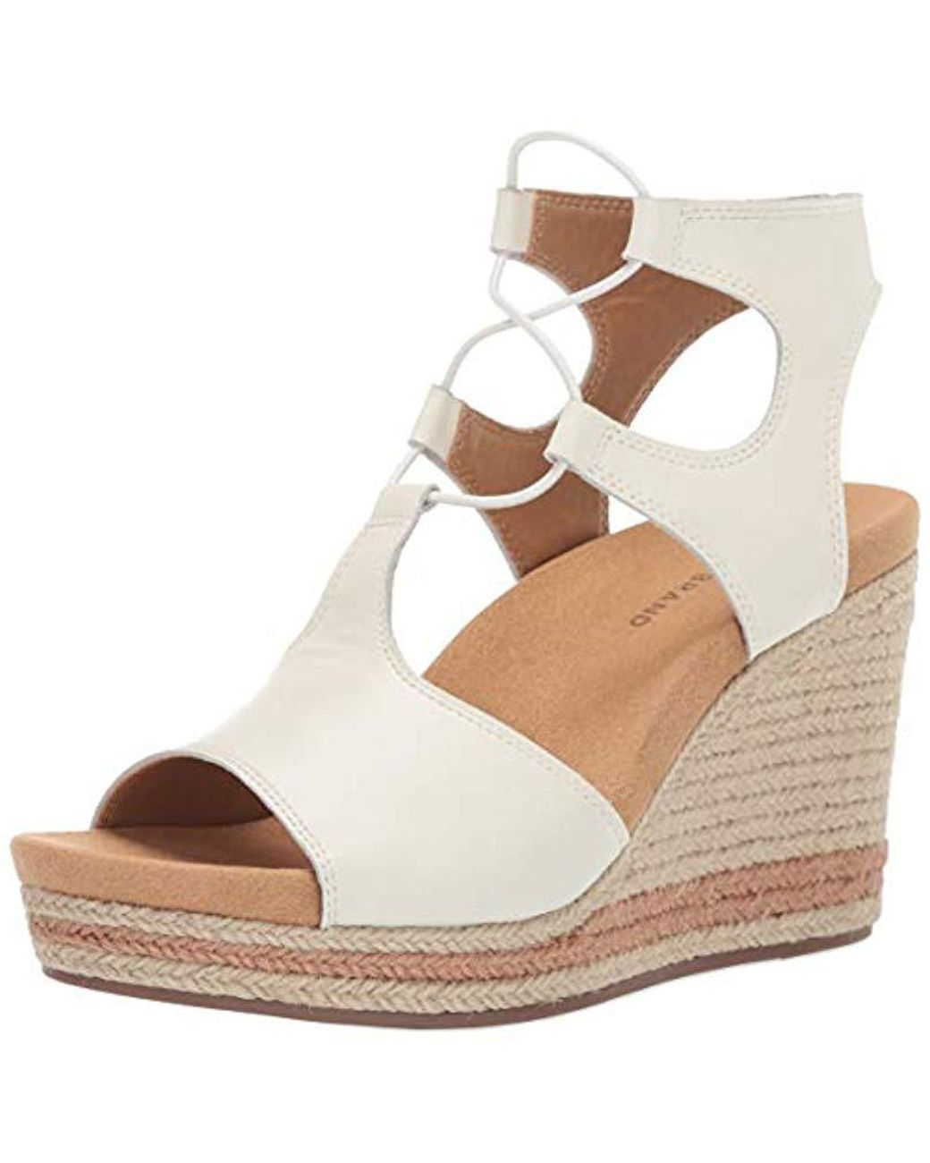 e44f0edd667 Women's Lucky Yejida2 Wedge Sandal, Milk 12 M Us