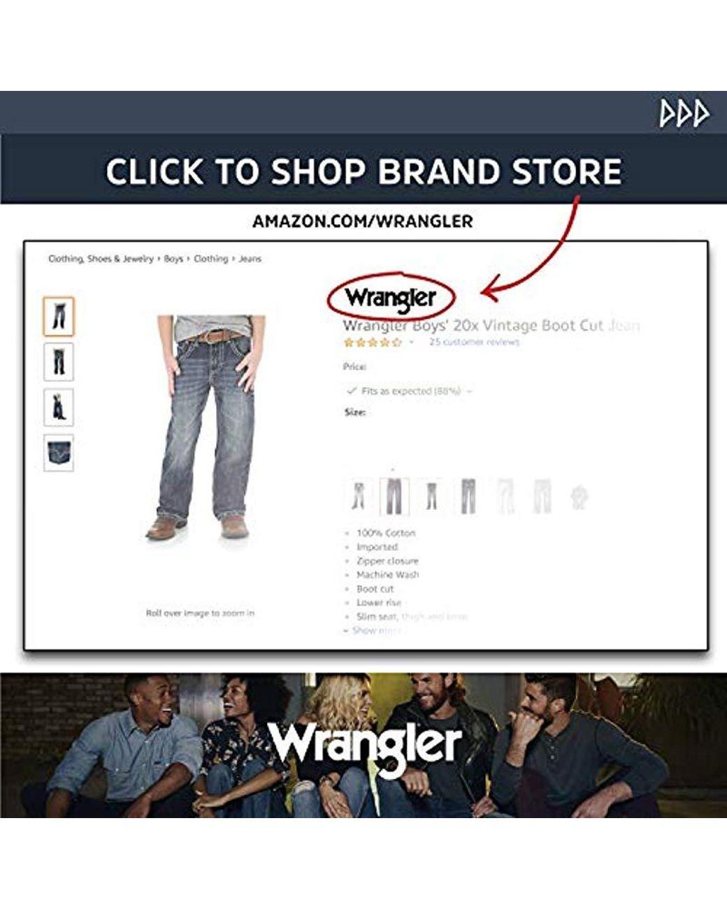 5bfef0df4bb Wrangler 20x Vintage Boot Cut Jean, Breaking Barriers, 18 Husky in Blue for  Men - Save 14% - Lyst