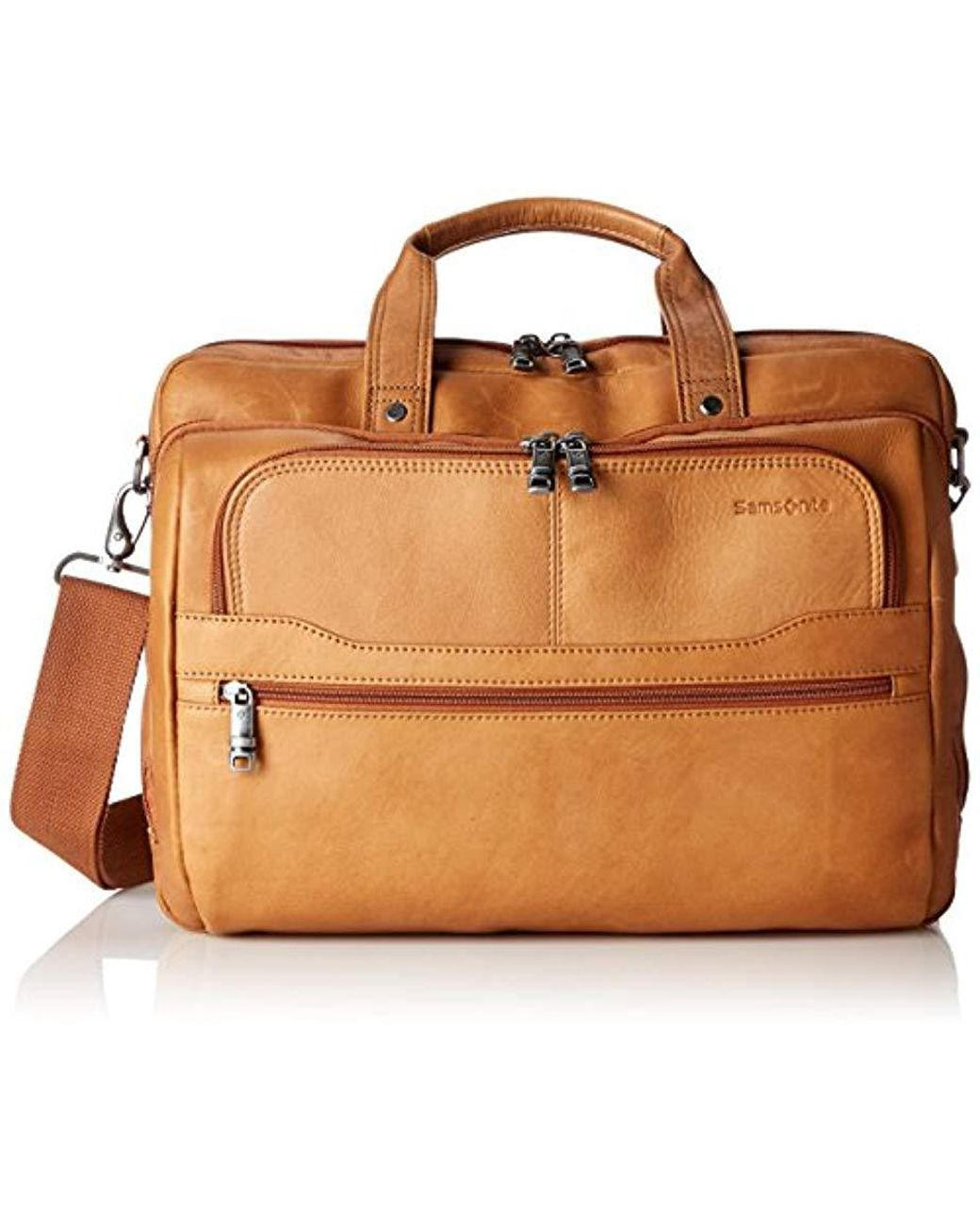 1ca783a24 Samsonite Colombian Leather 2 Pocket Business Case in Brown for Men - Save  1% - Lyst