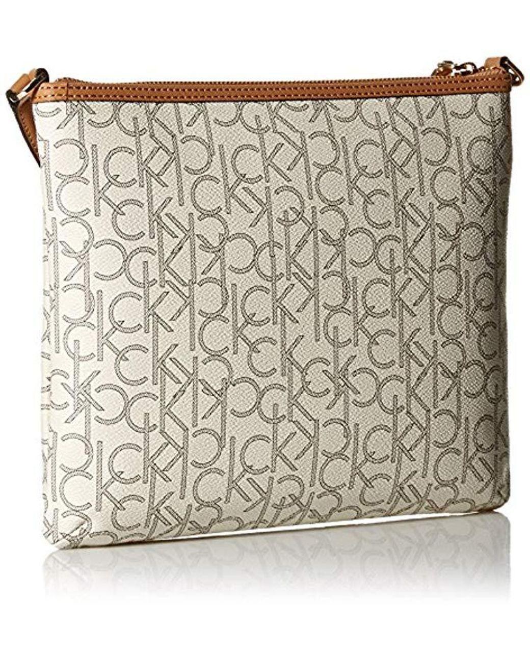 026ee828d6 Lyst - Calvin Klein Hudson Signature Crossbody Flat Pack - Save 30%