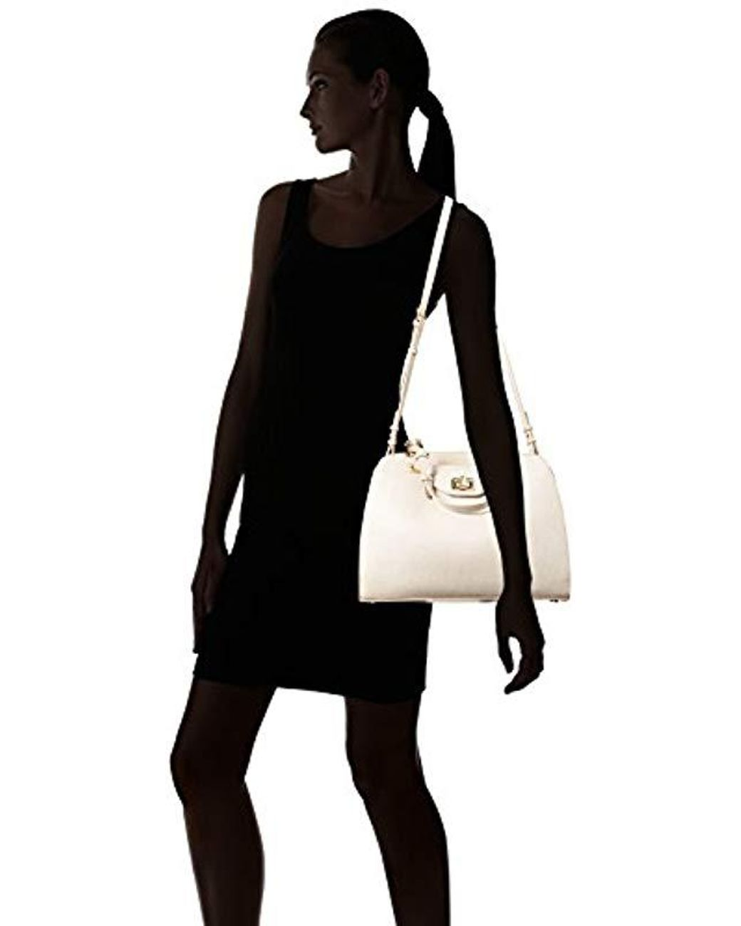 25019403fb2f58 Calvin Klein Clementine Mercury Leather East/west Tote in White - Save 33%  - Lyst