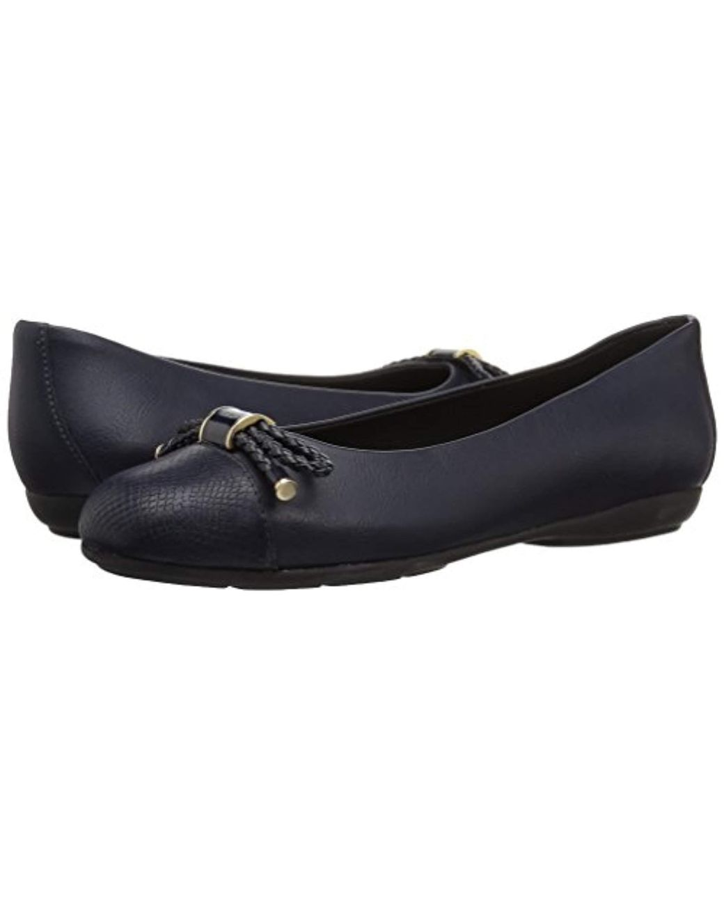 e30c41fdd3 Geox Annytah 6 Ballet Round Toe Flats With Bow-arch Support And Cushioning  in Blue - Lyst