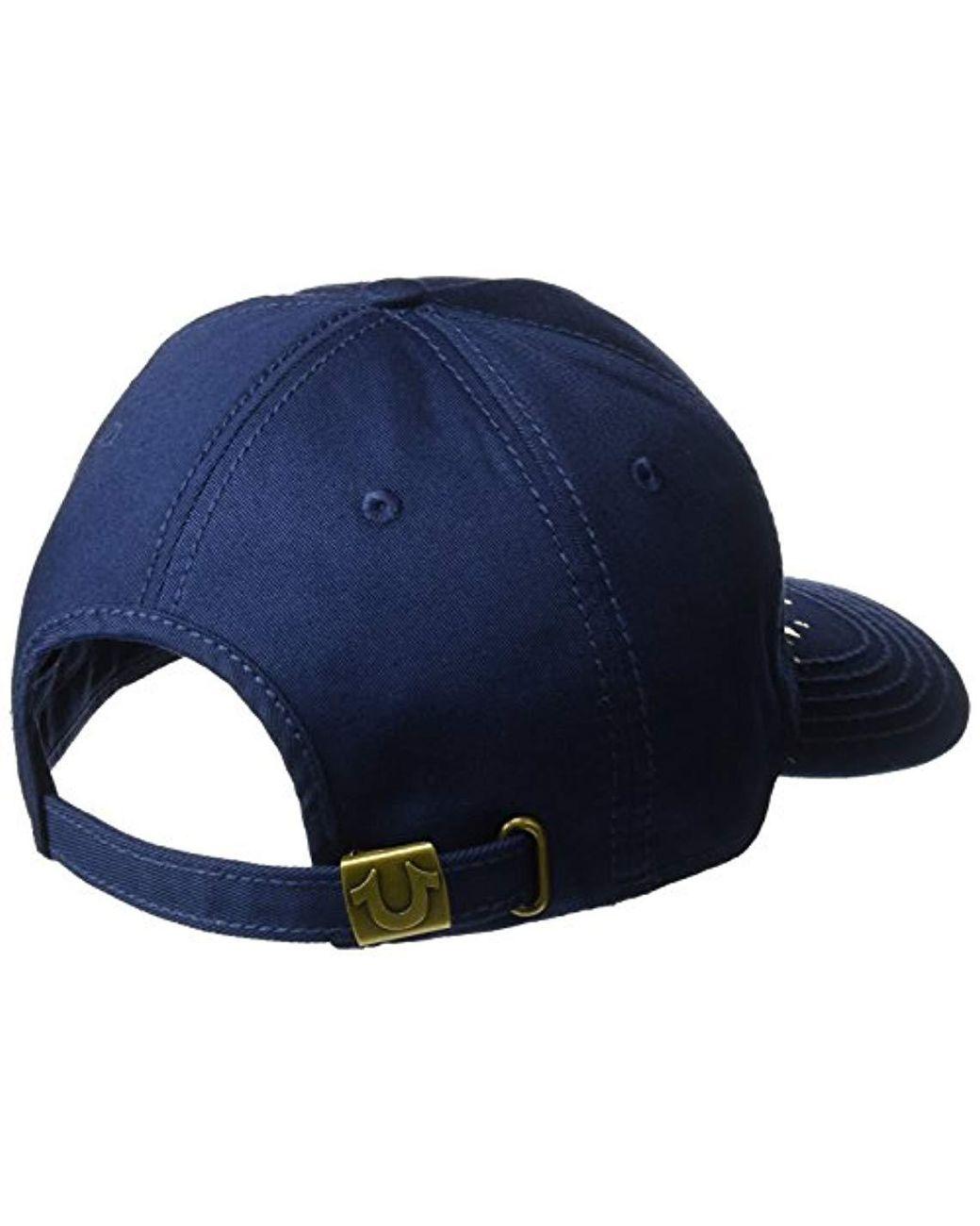 b20e3062 True Religion Shattered Horseshoe Cap in Blue for Men - Save 32% - Lyst
