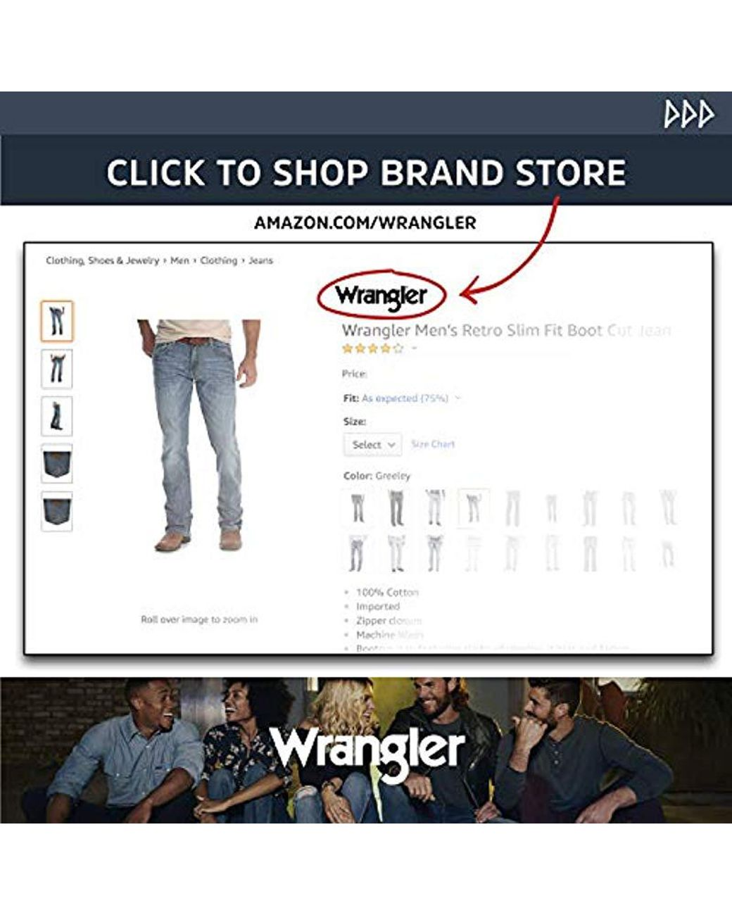 28bc7db0 Wrangler Premium Performance Cowboy Cut Slim Fit Jean in Blue for Men - Lyst