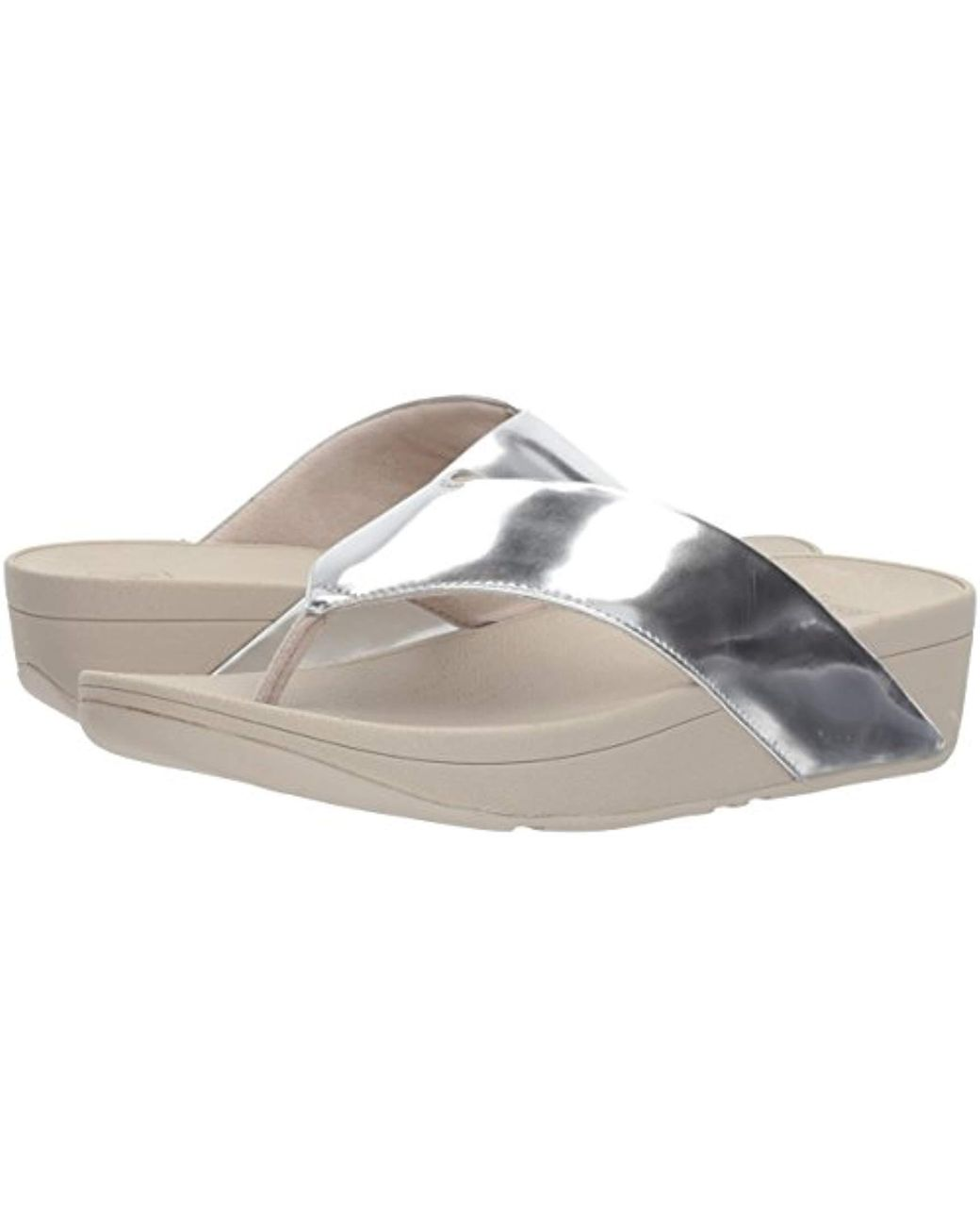 c7c9dadfe1d4 Lyst - Fitflop Swoop Toe-thong Sandals in Metallic