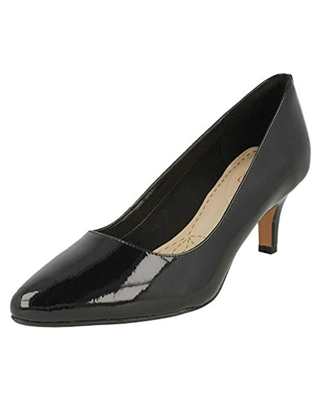 e2c43b94 Clarks Isidora Faye S Wide Dress Court Shoes 4 Black Patent in Black ...