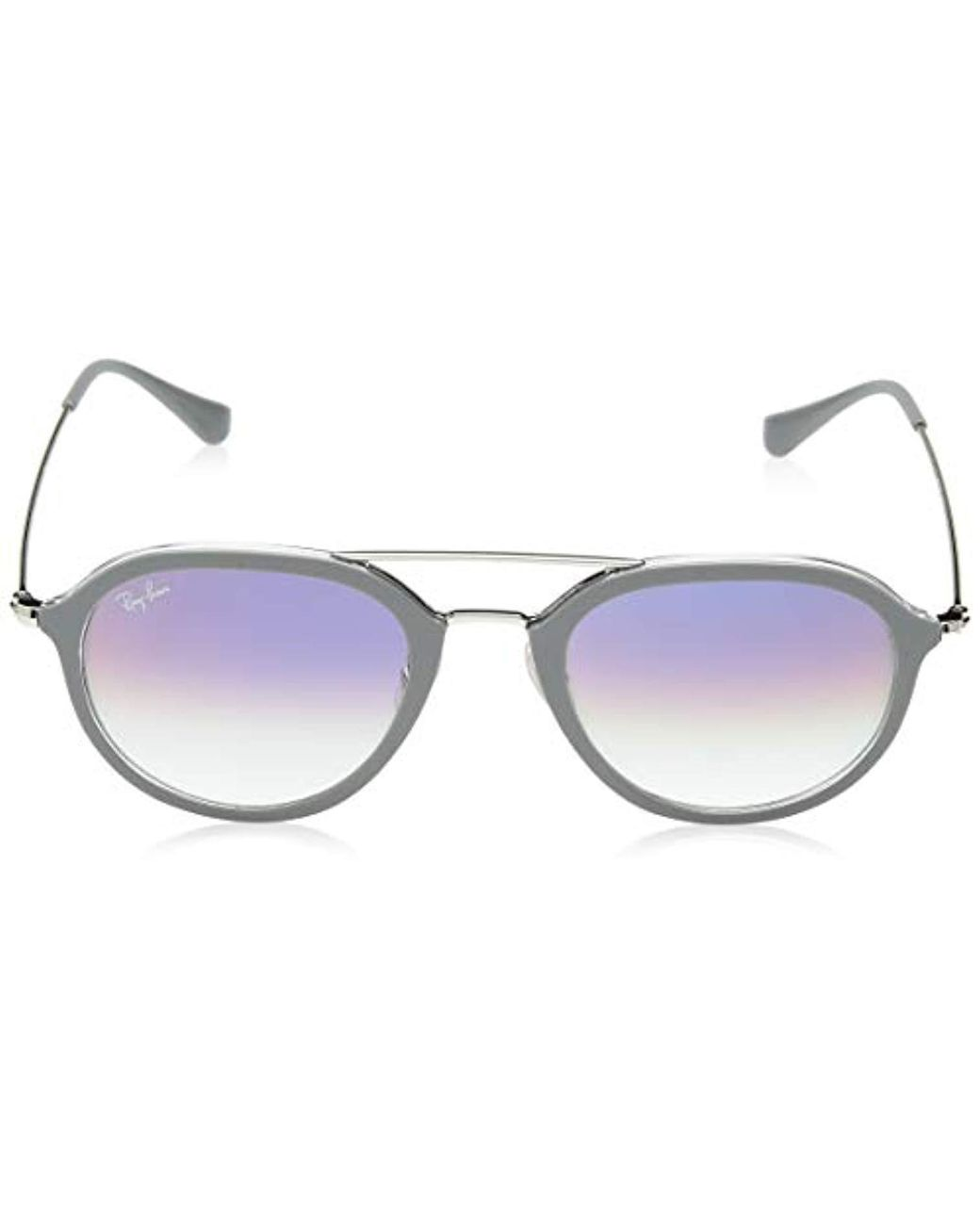 3fbc1fa52 Ray-Ban Rayban Unisex's 0rb4253 6337s5 53 Sunglasses, Top Grey On  Transparent/clear Gradient Violet in Gray for Men - Lyst