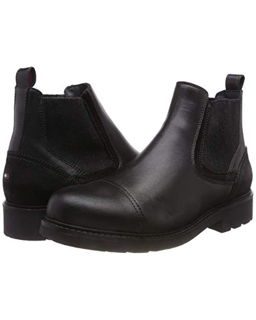 b9b146510352 Tommy Hilfiger. Men s Black  s Active Leather Chelsea Boot. £128 From  Amazon. Free shipping ...