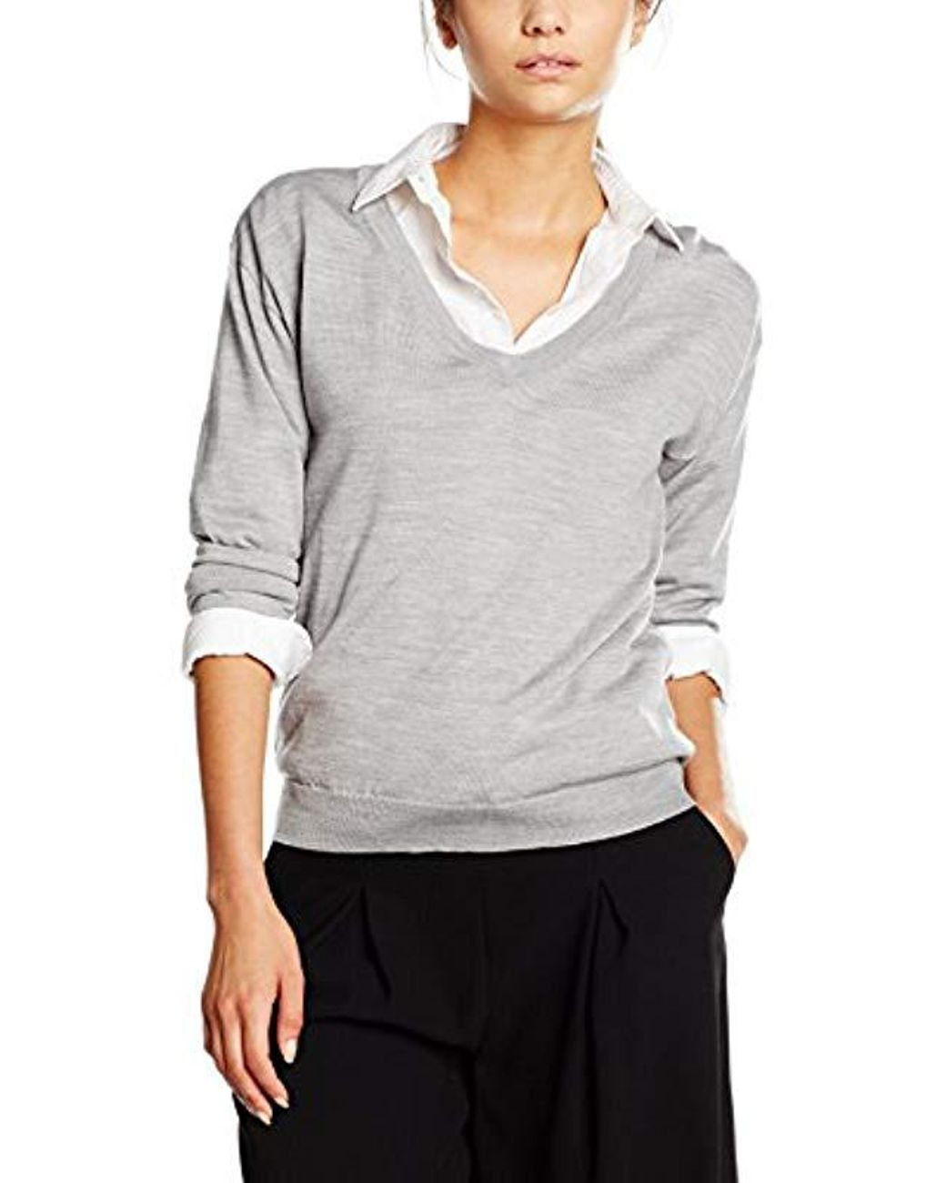 2b1b32344665 Filippa K Merino V-neck Pullover Jumper in Gray - Save 48% - Lyst