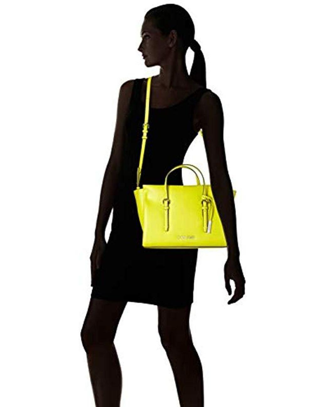 83f453f05c Calvin Klein Avant Small Tote Tote in Yellow - Lyst