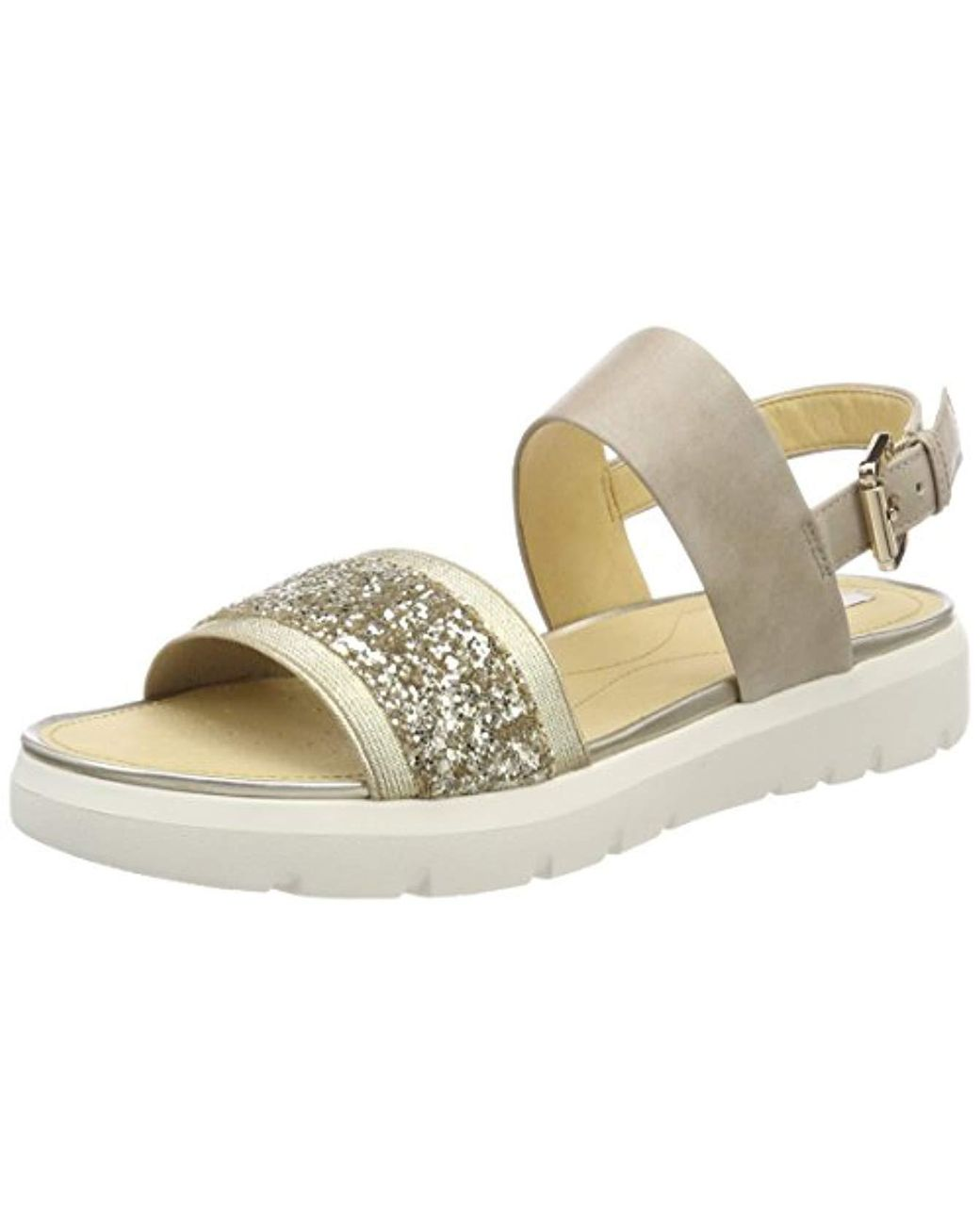 1520f8c97e70 Geox D Amalitha G Open Toe Sandals in Natural - Lyst