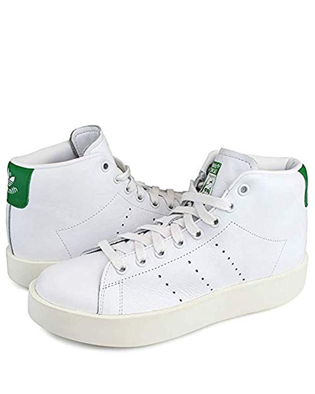 timeless design dc391 4c280 adidas Stan Smith Bold Mid W in White - Lyst