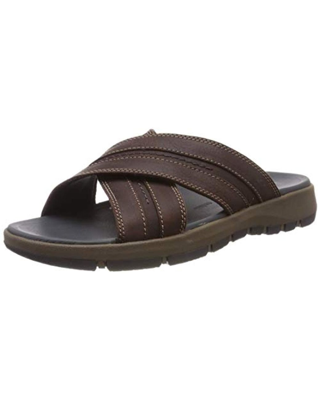 6f63c6f34f8 Clarks Brixby Cross Ankle Strap Sandals in Brown for Men - Lyst