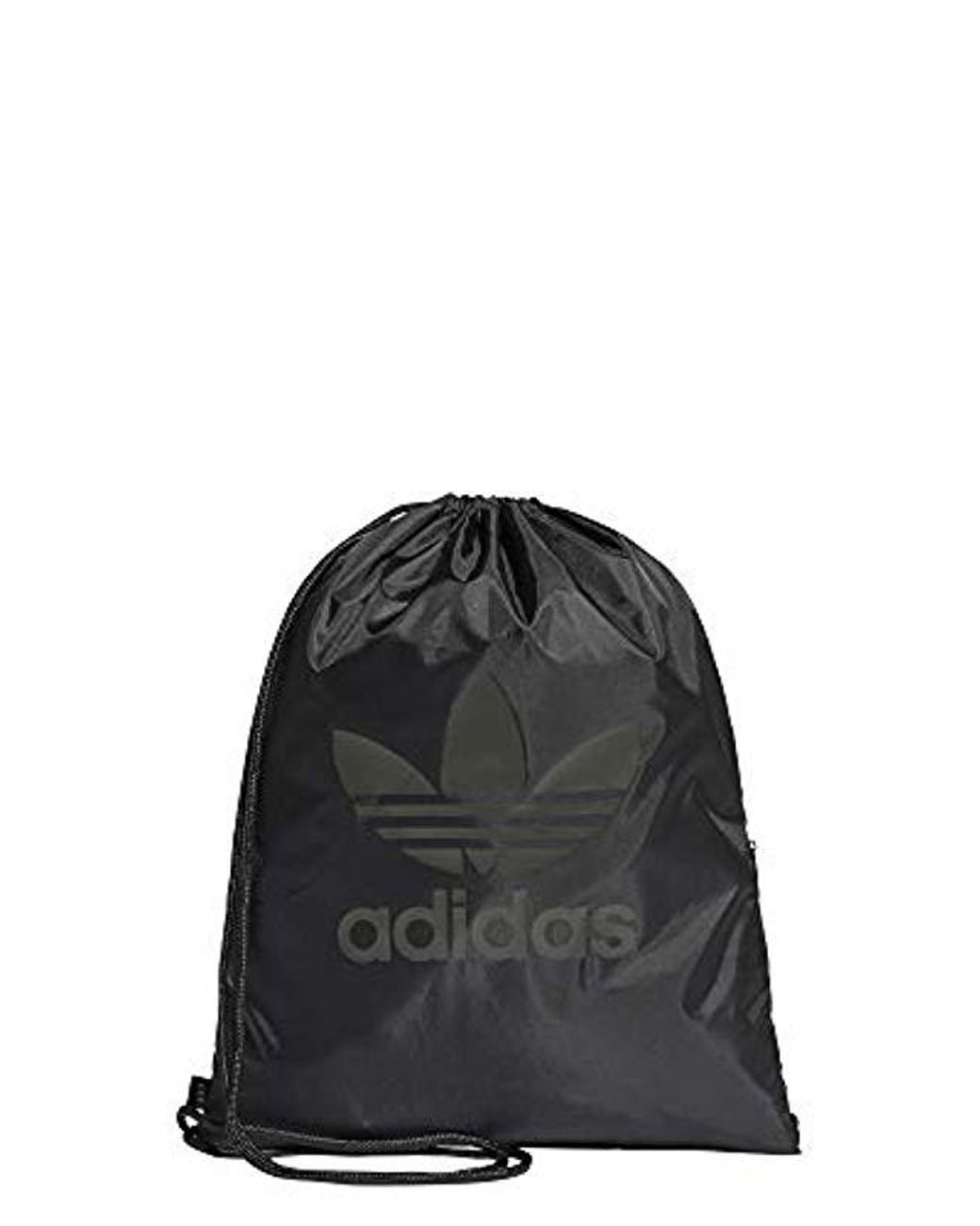 adidas Unisex Gymsack Trefoil Backpack in Black for Men - Lyst