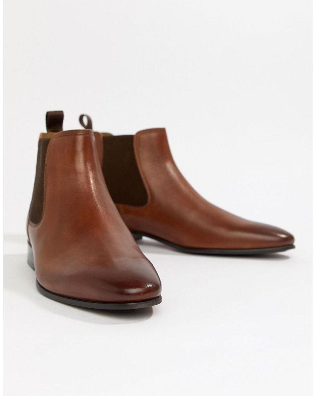 7ea77de9bd4 ALDO Chenadien Chelsea Boots In Tan Leather in Brown for Men - Lyst
