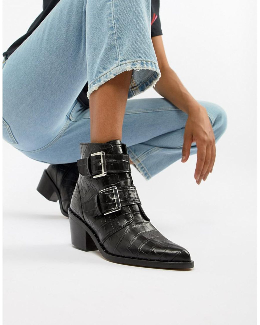641921ac7bfd7 Kurt Geiger Denny Boots in Black - Save 10% - Lyst