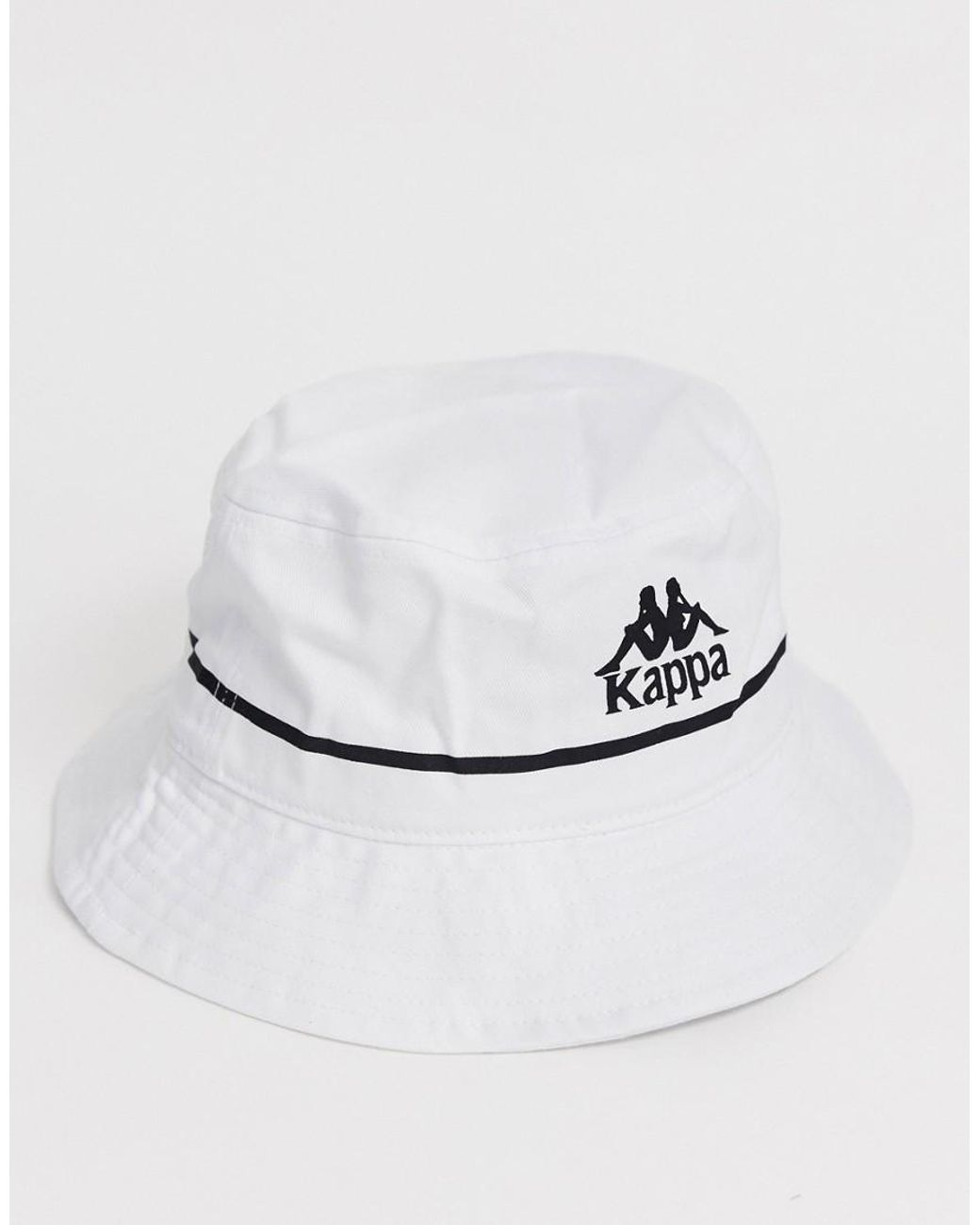 f74f8c22178f46 Kappa Authentic Bucketo Bucket Hat With Embroidered Logo In White in White  for Men - Lyst