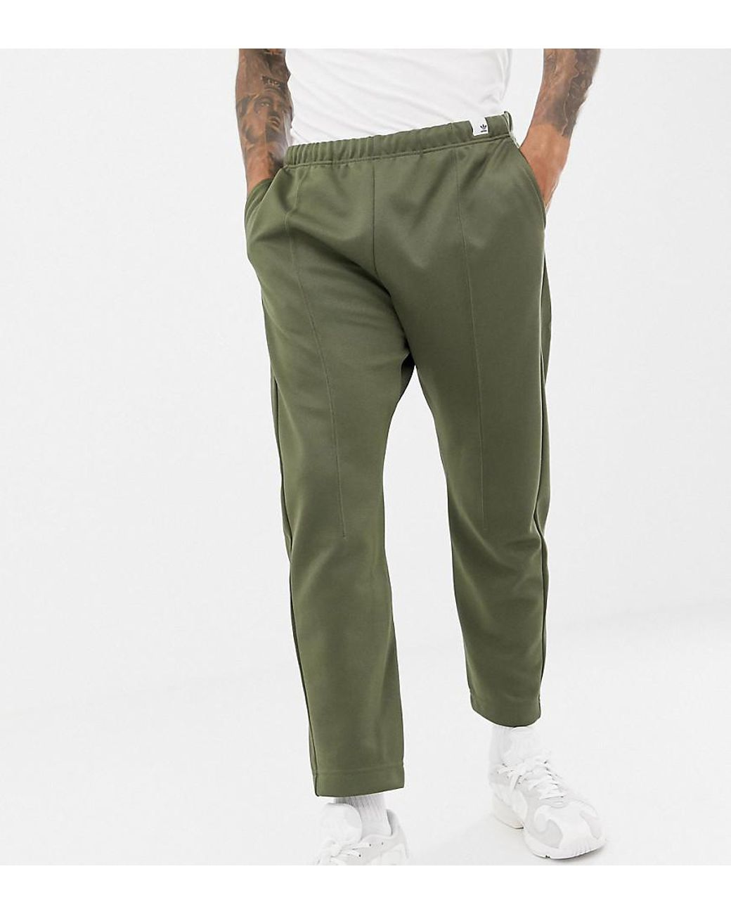 d4f73ee4f924 adidas Originals Xbyo Track Pants In Olive in Green for Men - Lyst