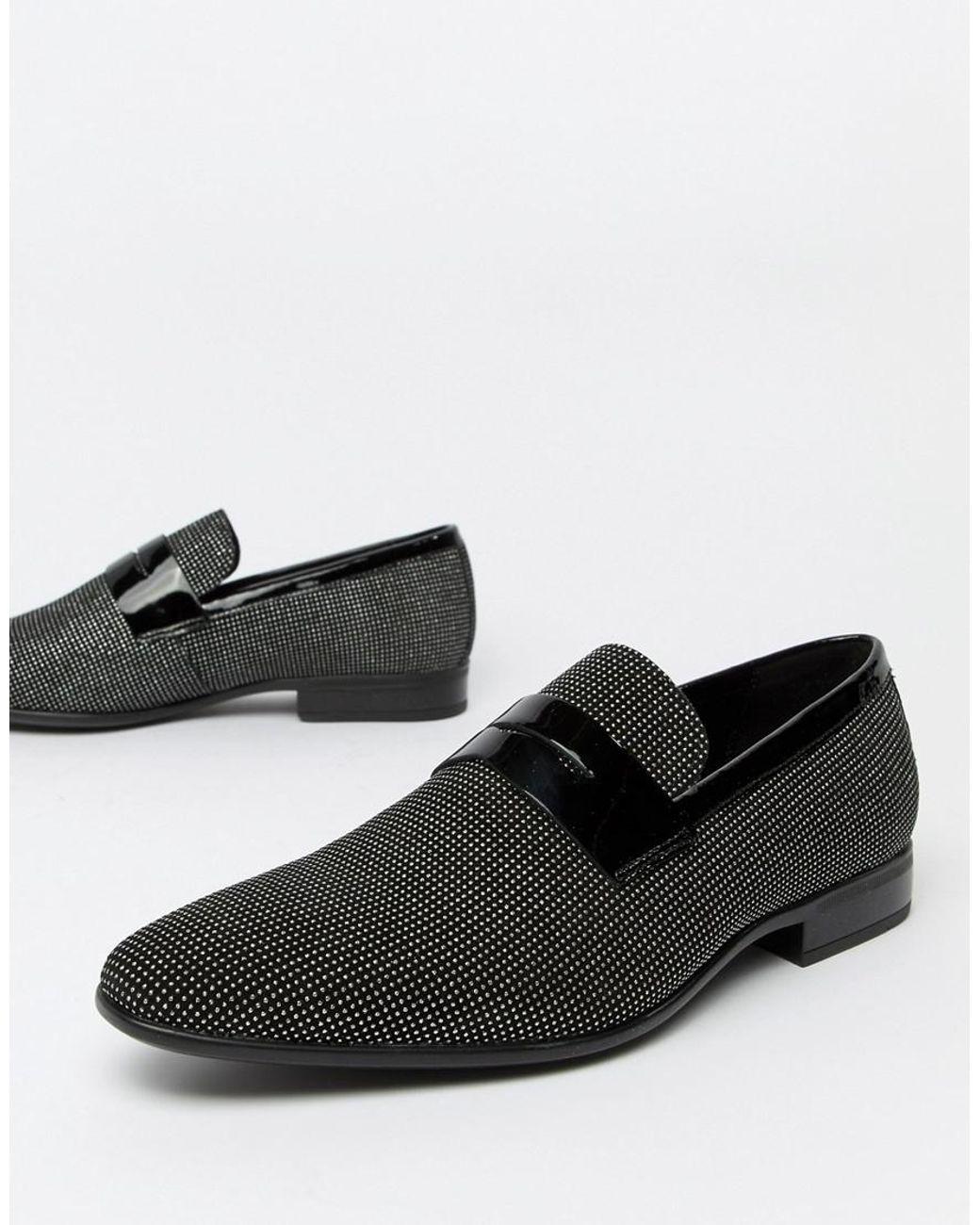 e09972d6867 ALDO Jerani Studded Loafers In Black in Black for Men - Lyst