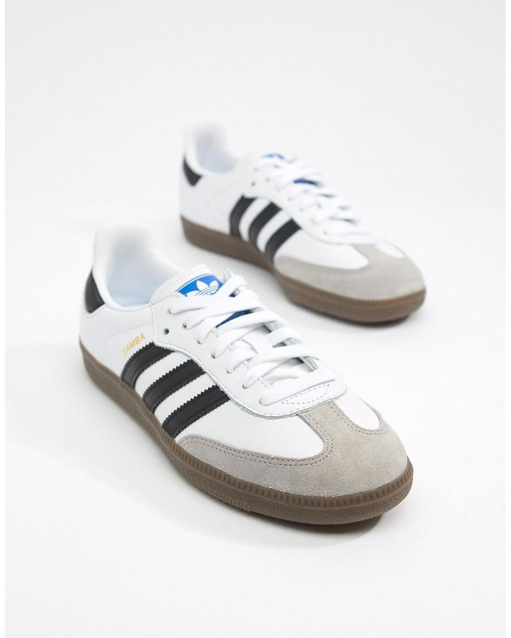 the latest 7a324 bbd12 adidas Originals Samba Og Sneakers In White And Black - Lyst