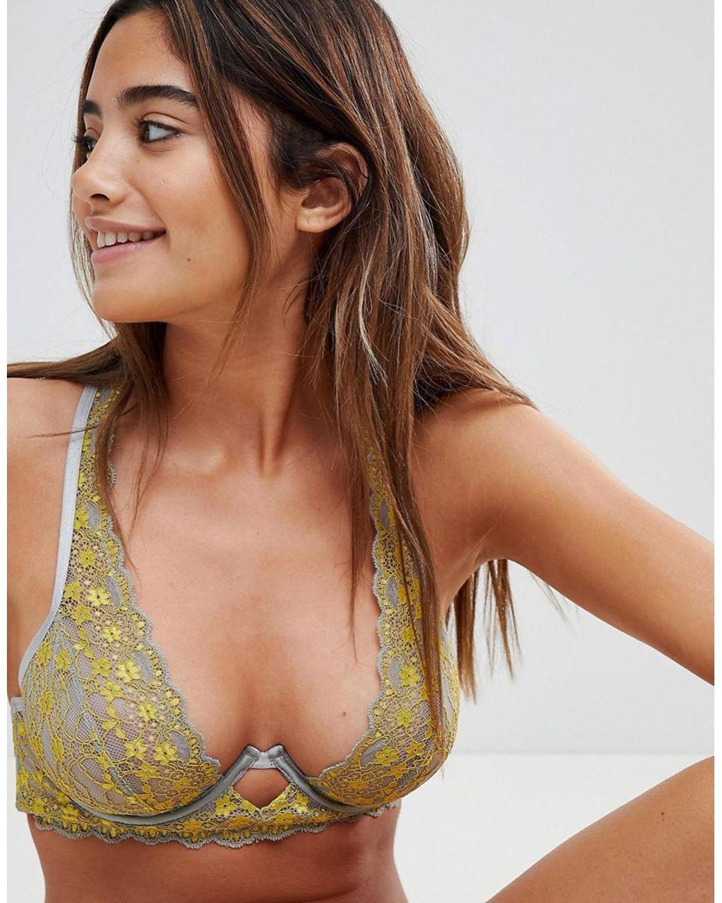 16a699345742f2 ASOS. Women s Asos Clara Contrast Lace Underwire Bra