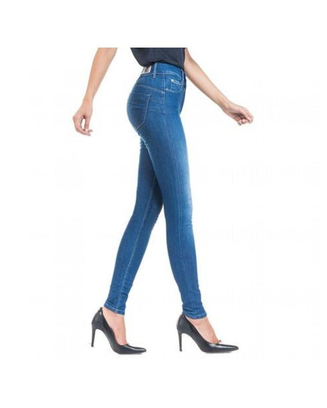 55e4e88458116 Salsa Skinny Fit Jeans Push in Blue - Lyst