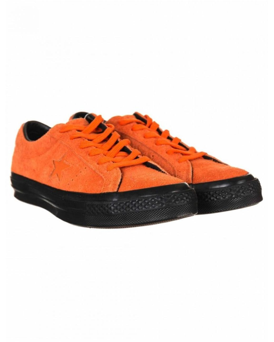 f7efe0c0a627 Converse One Star Ox Trainers in Orange for Men - Lyst