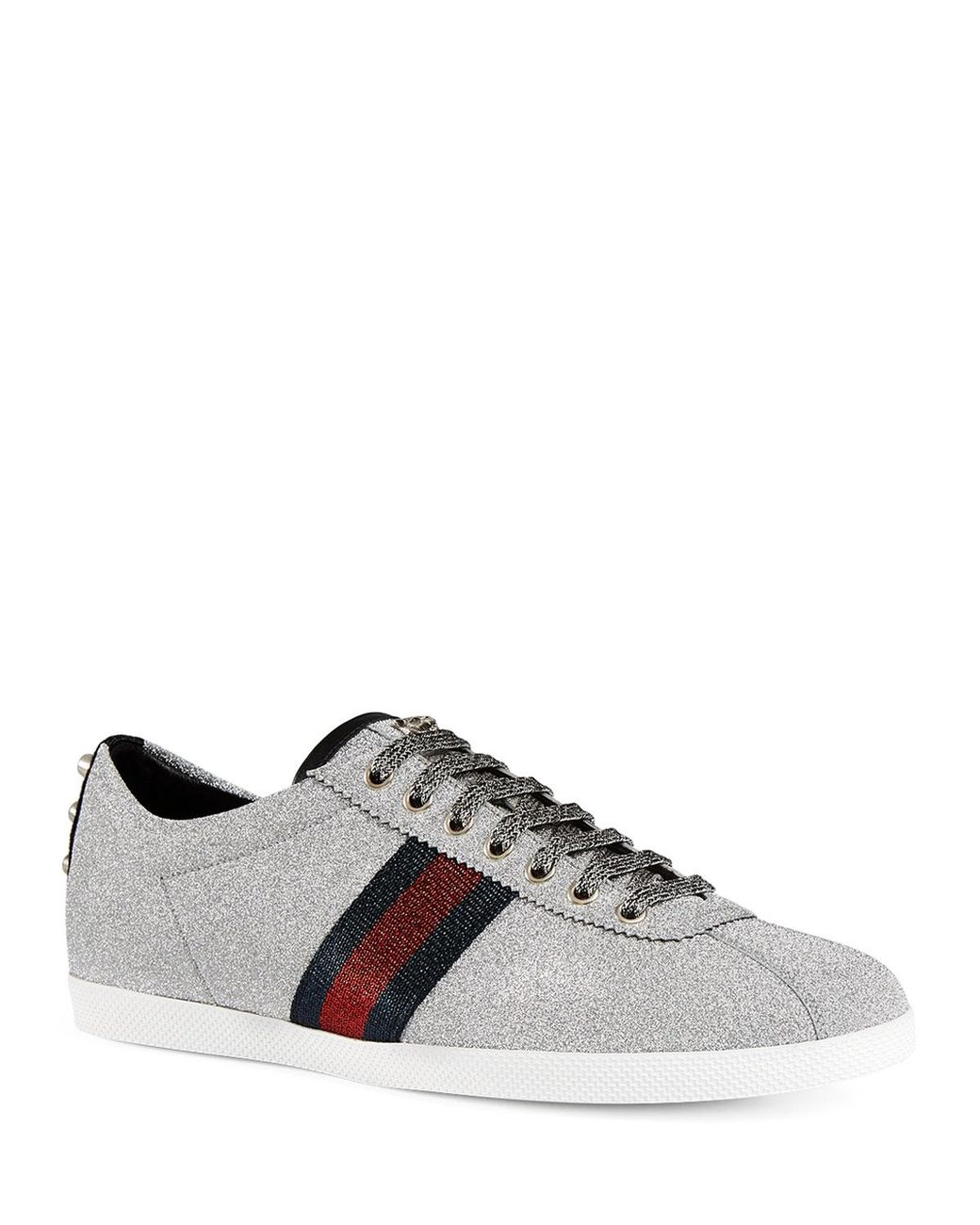 5779380a623 Lyst - Gucci Men s Bambi Web Low-top Sneakers With Stud Detail for Men