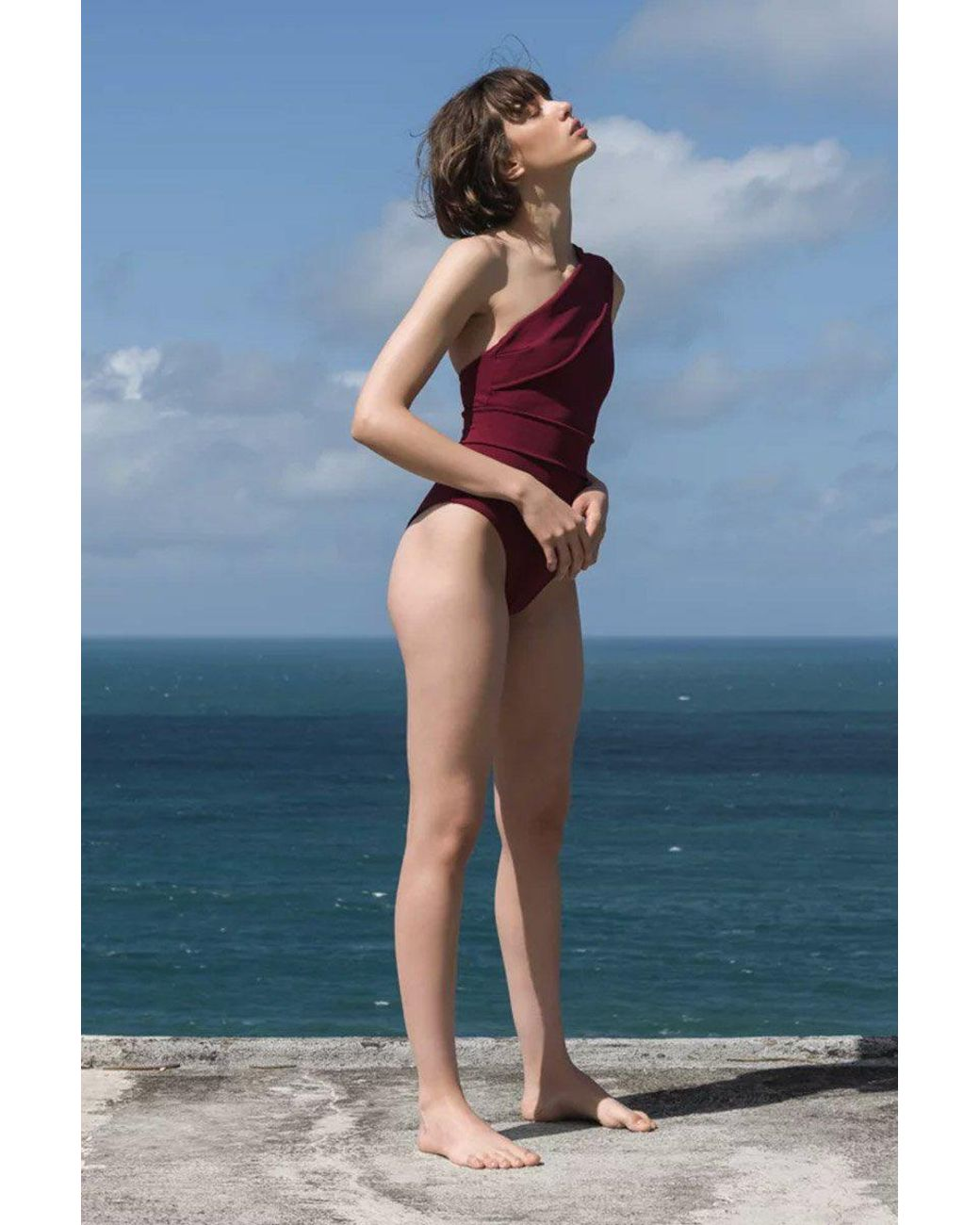 0b299d1aff Haight Maria One Shoulder One Piece Swimsuit - Garnet Red in Red - Lyst