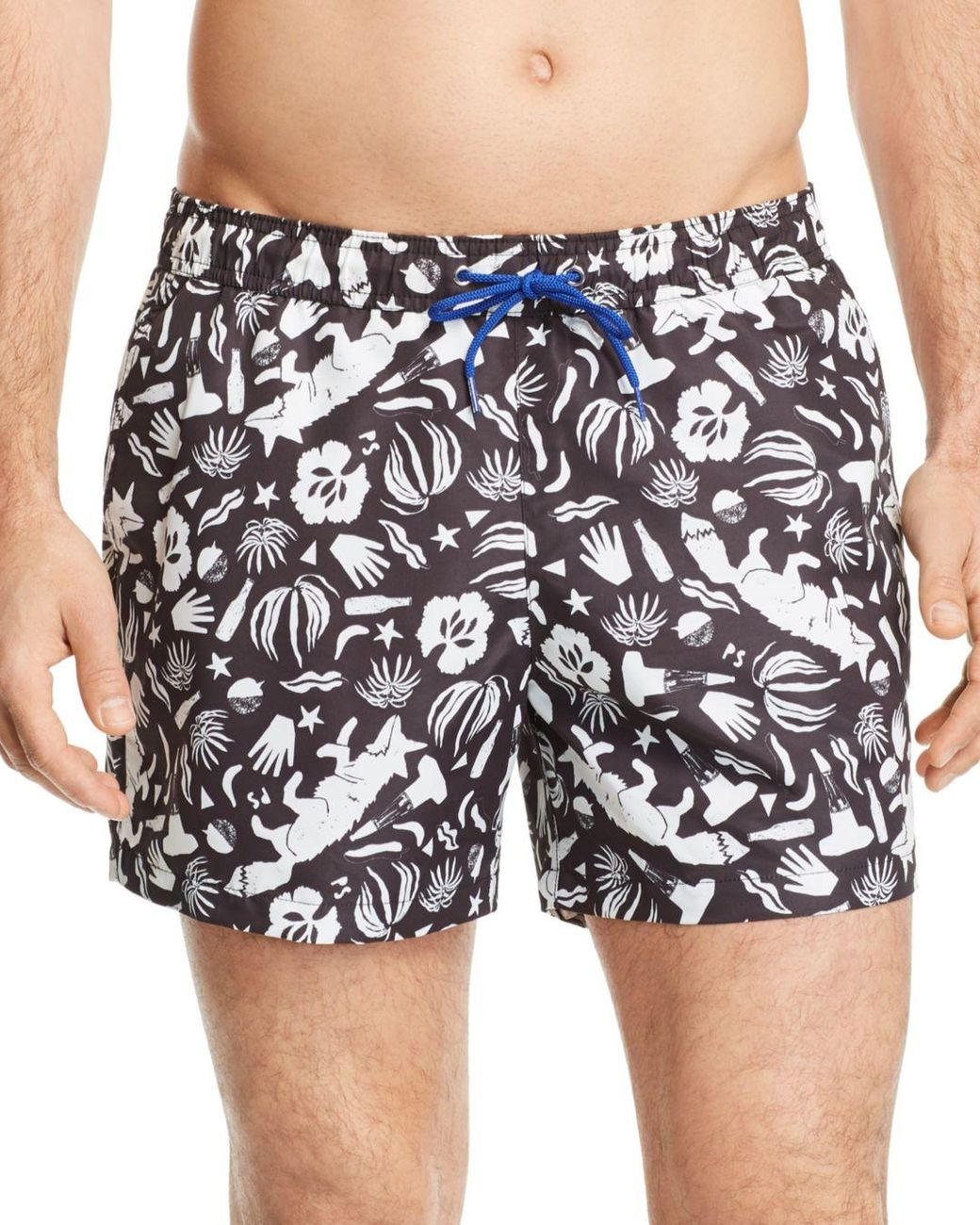cc5b62cfe1 Lyst - PS by Paul Smith Classic Fox-print Swim Shorts in Black for Men
