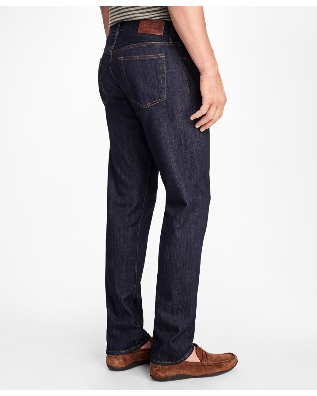a4a7fc6961 Brooks Brothers Supima Stretch Denim Slim Fit Jeans in Blue for Men - Lyst