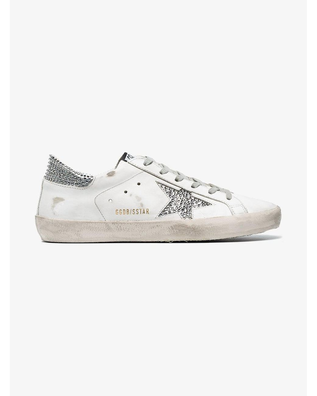e5569d9dcea5 golden goose deluxe brand women s white superstar crystal embellished  trainers