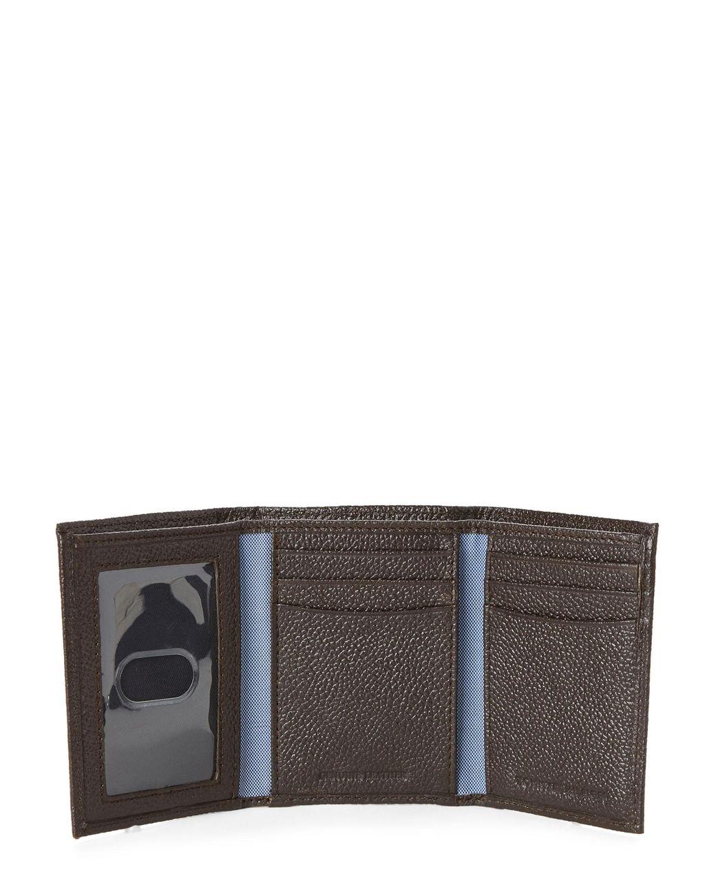 62027231 Tommy Hilfiger Hunter Leather Tri-fold Wallet in Brown for Men - Lyst