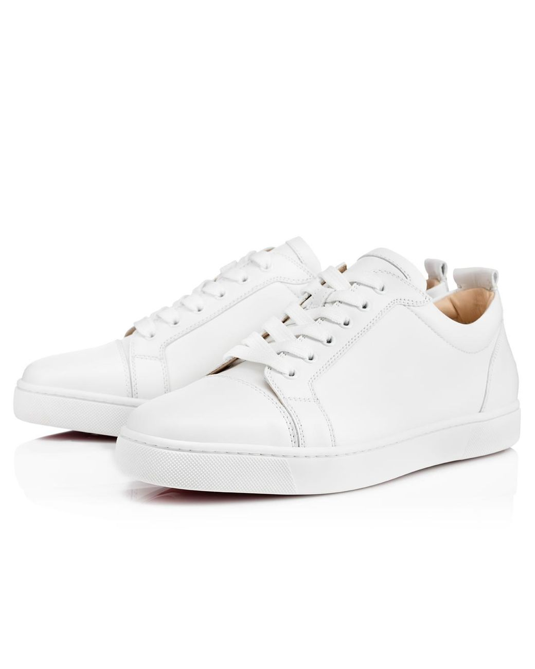 cda98140b582 Christian Louboutin Louis Junior Leather Low-Top Sneakers in White for Men  - Lyst