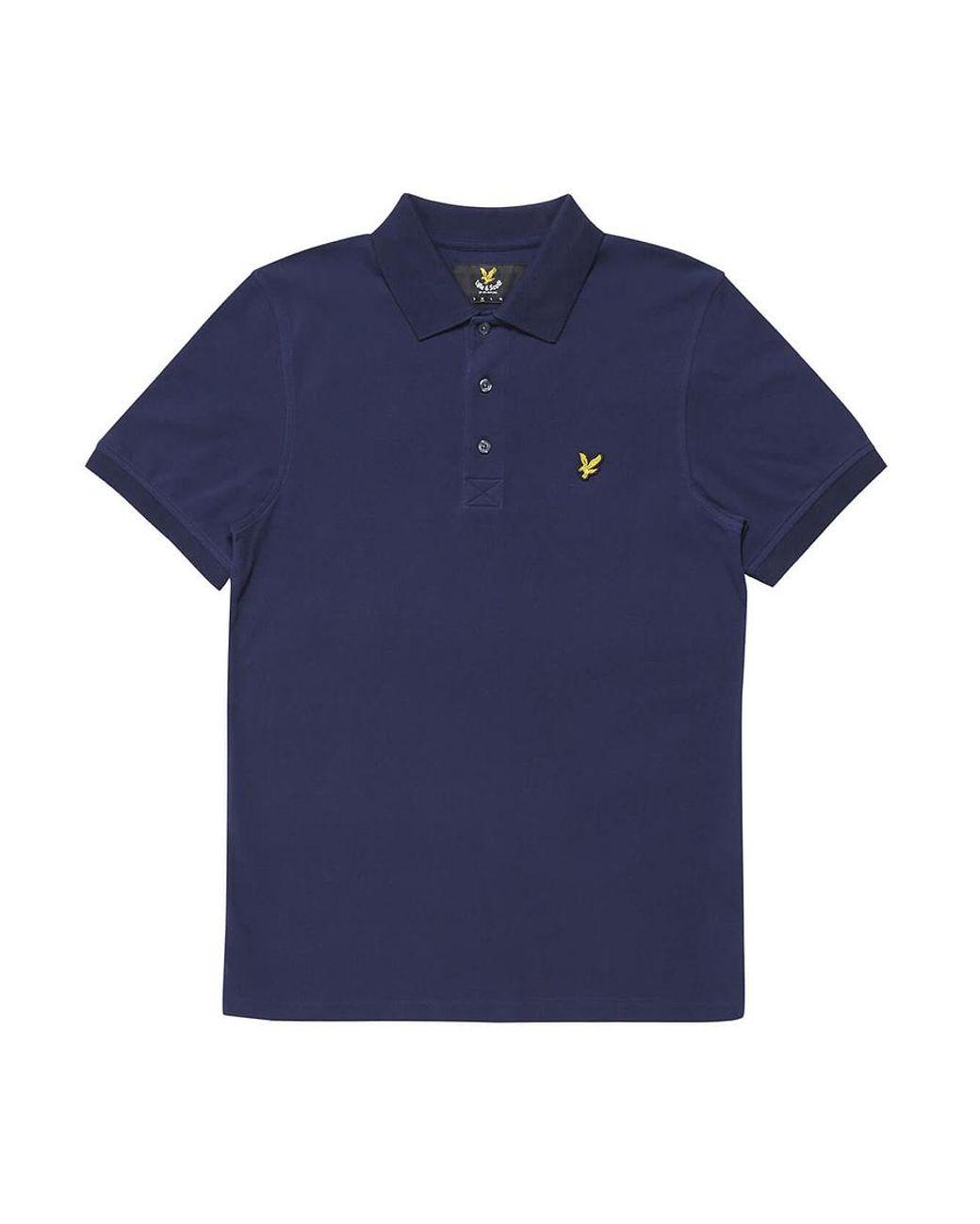 6c0100c5d6b Lyle   Scott Plain Short Sleeve Polo Shirt in Blue for Men - Lyst