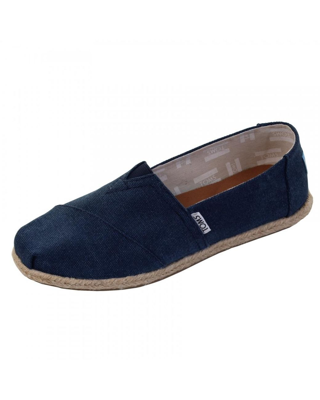 6fdd0d79393 TOMS Alpargata Navy Washed Canvas Rope Sole Womens Espadrille in Blue - Lyst