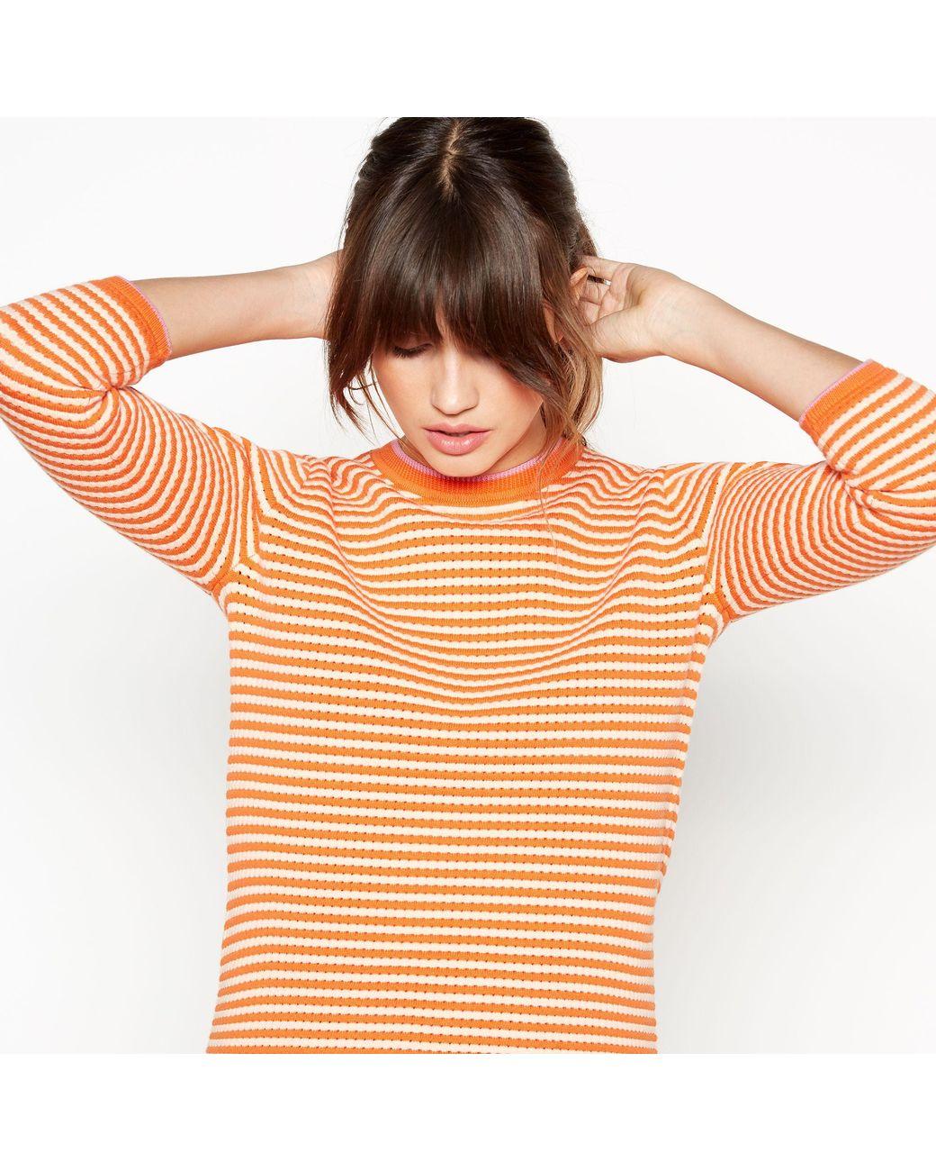 9f9d3bde286ddb J By Jasper Conran Orange Striped Cotton Jumper in Orange - Lyst