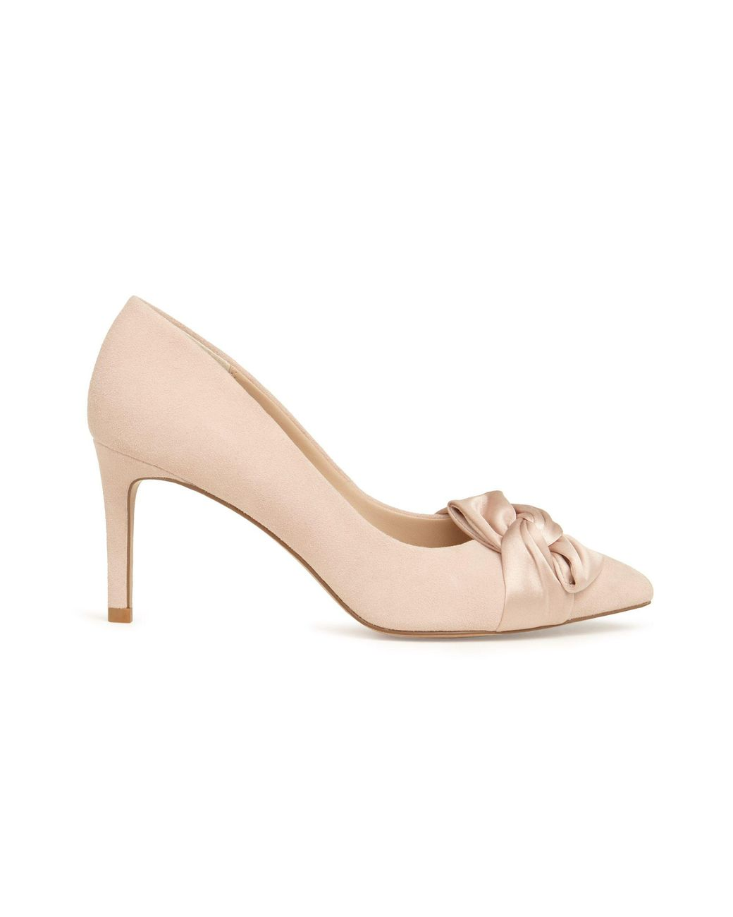 54cd6fcdfb Phase Eight Pink Gemma Twist Front Pointed Court Shoes in Pink - Lyst