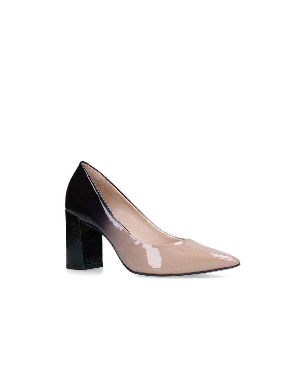 9dca5b041c7 Carvela Kurt Geiger. Women s Natural Nude  albert  Block Heel Court Shoes