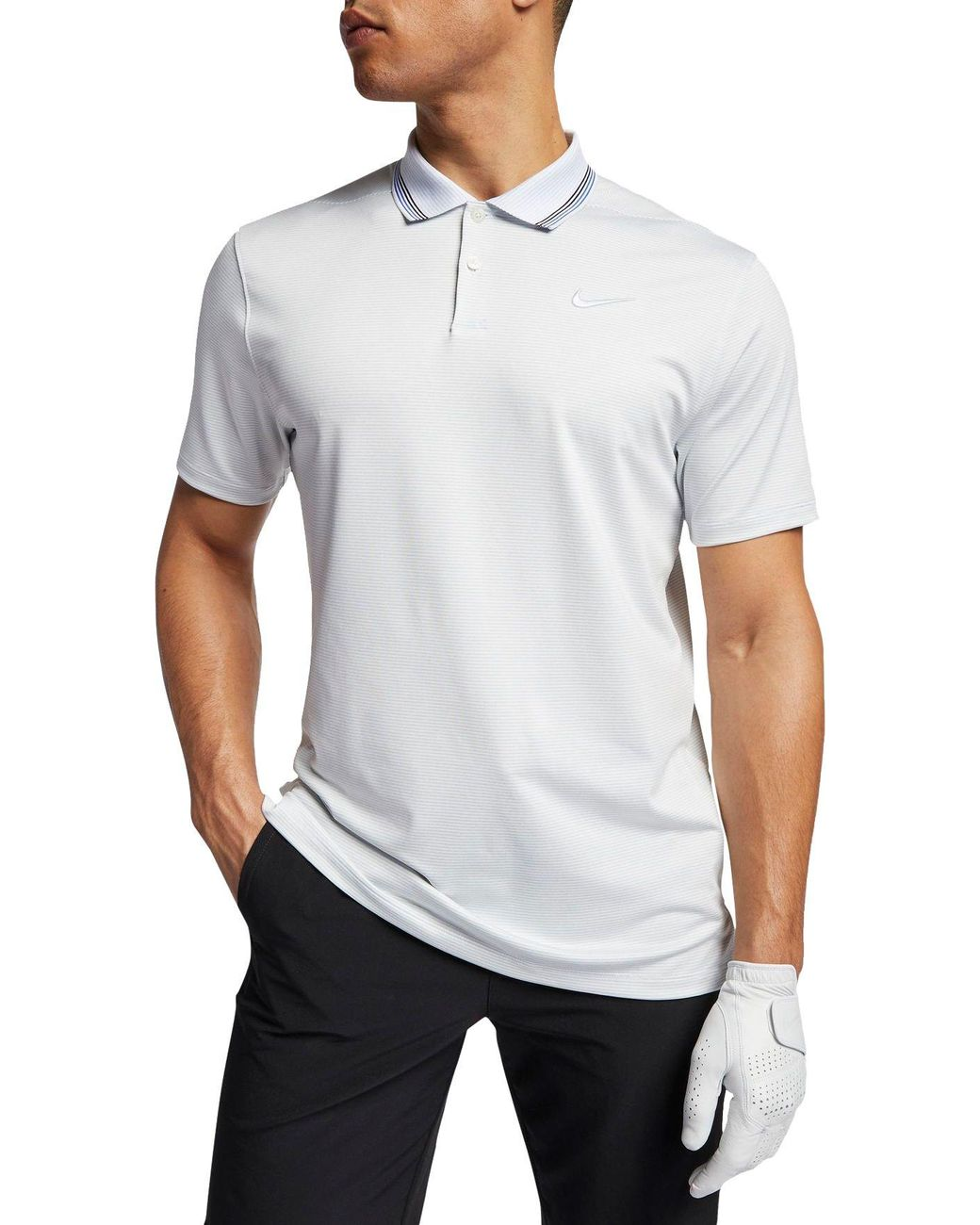 adcf0de90b Nike Vapor Control Stripe Golf Polo in White for Men - Lyst