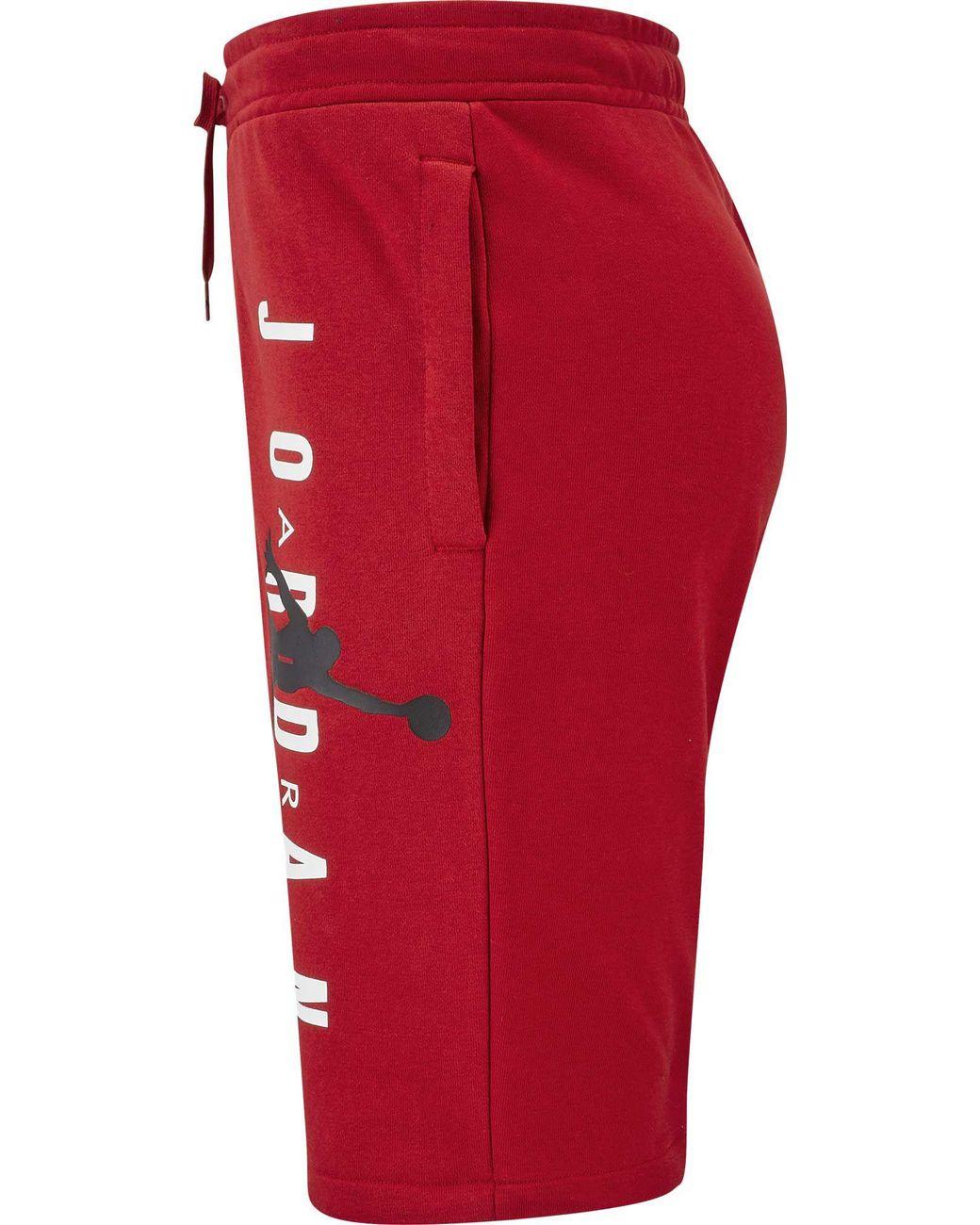 meet 6f302 0bb0e Nike Jordan Jumpman Air Fleece Shorts in Red for Men - Lyst
