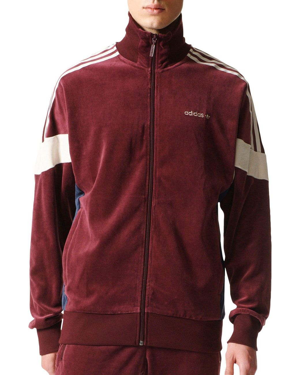 c8470776daae Lyst - adidas Clr84 Velour Track Jacket In Red Bs4669 in Red for Men ...