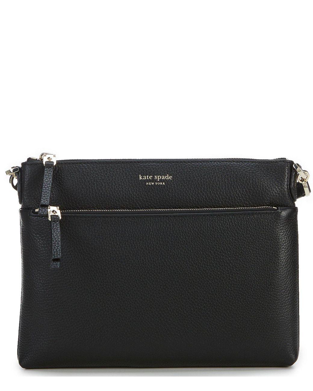 dd51402f9d6c Lyst - Kate Spade Polly Medium Top Zip Cross-body Bag in Black